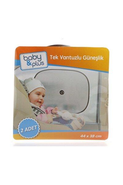 Baby&Plus Tek Vantuzlu Güneşlik 2 Adet /