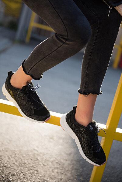 Diadora Symbol Reptile Siyah Kadın Günlük Ayakkabı - 161930-80013