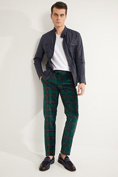 Fc Plus Erkek Yeşil Ekose Pantolon