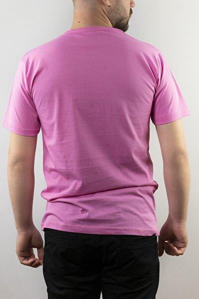 Erkek Pembe Basic Penye T-shirt