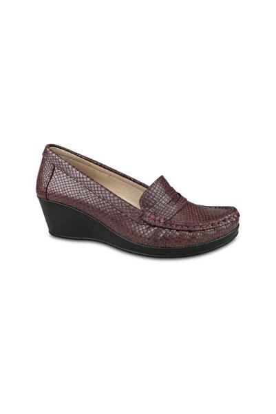 Ceyo Hakiki Deri 805 Dolgu Topuk Ayakkabı