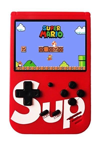 Retro 400 Nostalji Oyunlu Mini Atari Gameboy & Gamebox Oyun Konsolu Kırmızı