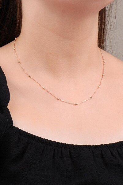 Sümer Telkari Rose Gümüş Toplu 45 Cm Zincir Kolye 6618