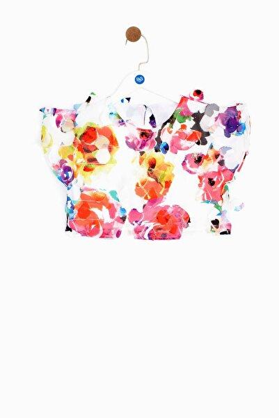 Tyess Kız Çocuk Renkli Çiçek  Desenli Bluz
