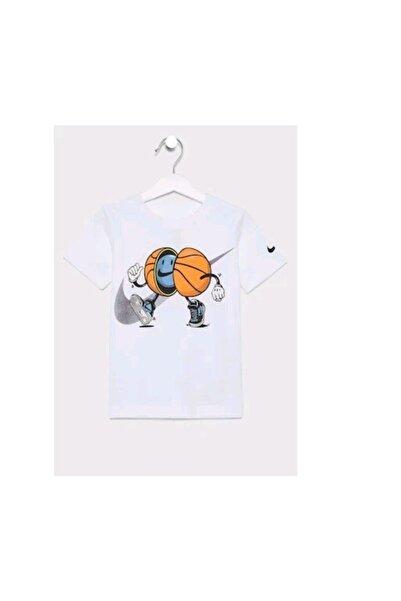 Nike Unisex Çocuk Beyaz T-shirt