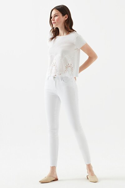 Kadın Tess Beyaz Nakışlı Jean 100328-28770