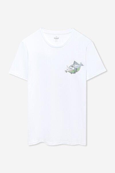 Erkek Clean Seas Stop Sea Pollution Baskılı Beyaz T-shirt 066244-620