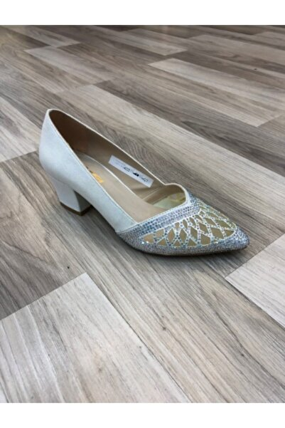 PUNTO Kadın 547730 Sedef Kalın Topuk Ayakkabı