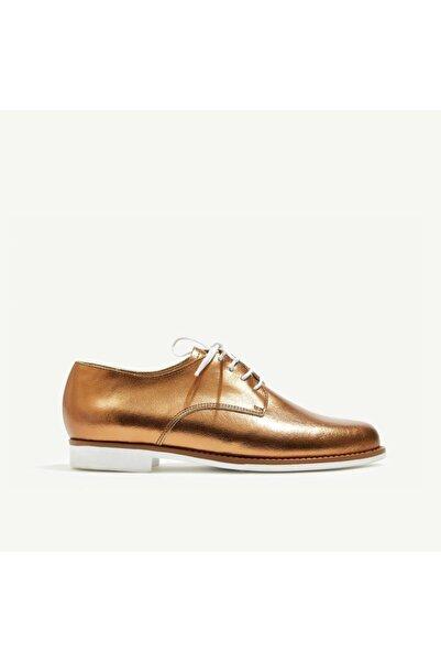 Yargıcı Kadın Bronz Deri Ayakkabı 8YKAY4000X