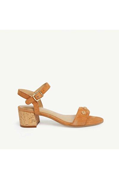 Yargıcı Kadın Bej Süet Topuklu Sandalet 9YKAY4008X