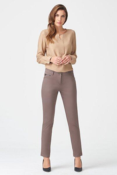 Naramaxx Kadın Vizon Boru Paça Vizon Pantolon 17K11113Y363206-Vızon