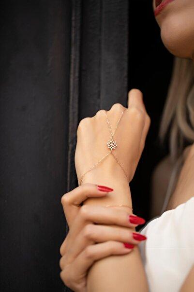 İzla Design Kadın Kar Tanesi Model Rose Kaplama Gümüş Şahmeran PKT-İZLASLVR00569