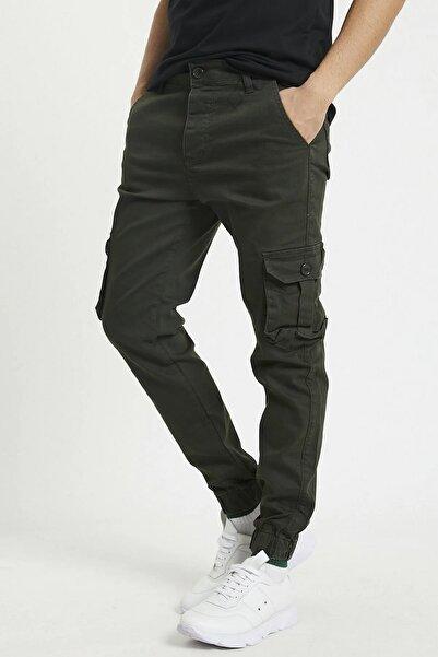 Tarz Cool Haki Kargo Cep Likralı Pantolon