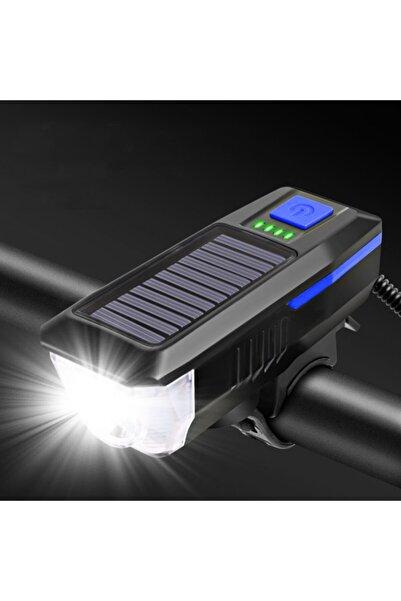 valkyrie Solar Bisiklet Feneri Su Geçirmez T6 Led Güneş Enerjili Usb Şarjlı