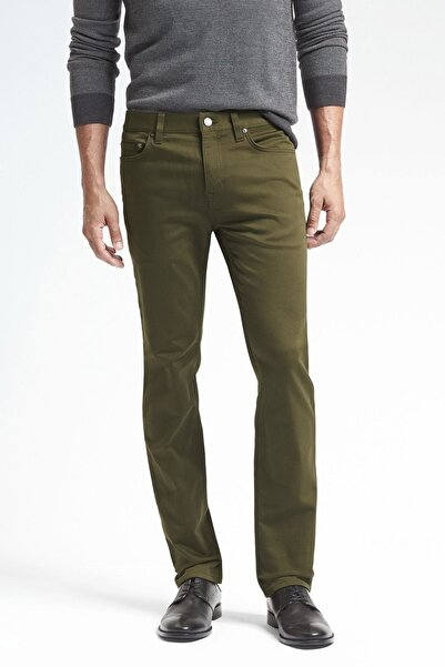 Banana Republic Erkek Yeşil Slim Traveler Pantolon 488420