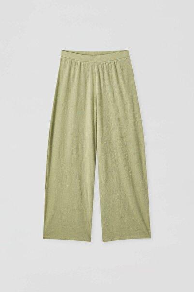 Pull & Bear Kadın Yeşil Basic Culotte Pantolon 05670208