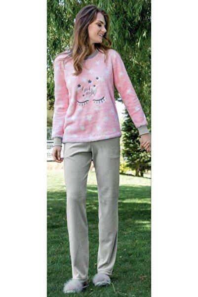 Yeni İnci Kadın Polar Pijama Takımı 1376