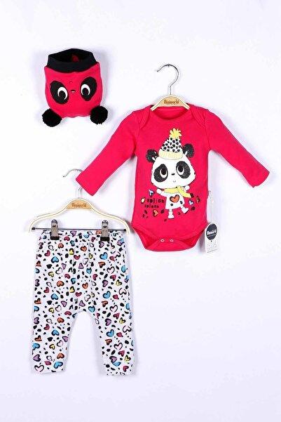 Miniworld Kız Bebek Badi Pantolon Şapka 3lü Takım 14736