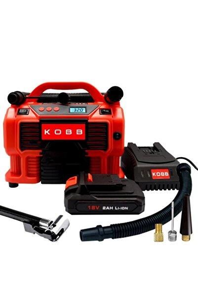 KOBB Kb500 12volt/220volt/18volt 2ah Li-ion Şarjlı Dijital Basınç Göstergeli Şişirme aleti