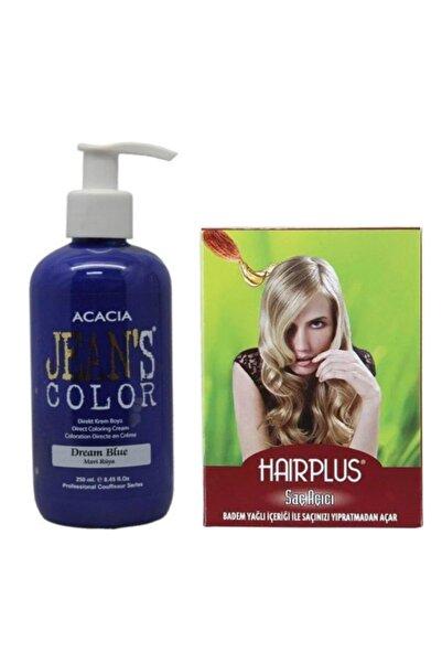 Acacia Jeans Color Saç Boyası Mavi Rüya 250ml Ve Hairplus Saç Açıcı