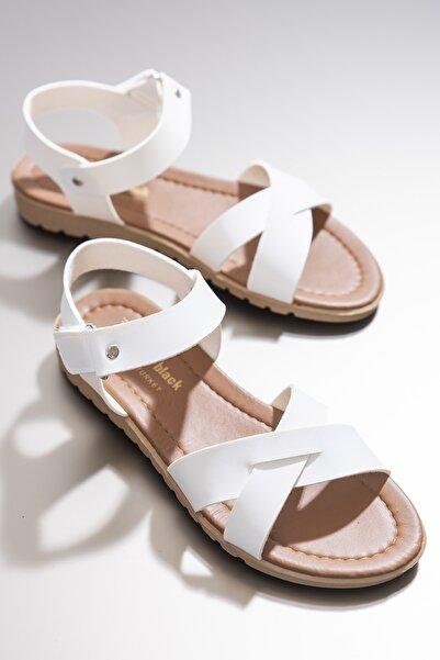 Tonny Black Kadın Sandalet Beyaz Tbsnd