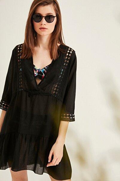 Kadın Pareo Plaj Elbisesi 2011 Siyah Tcty20sspro011
