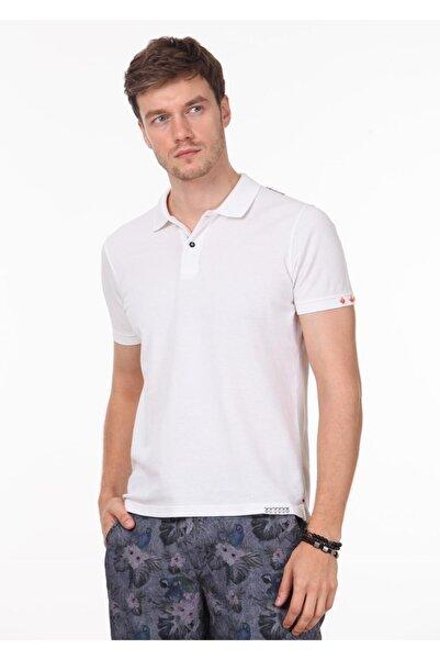 Ramsey Erkek Beyaz Düz Örme T - Shirt RP10120144