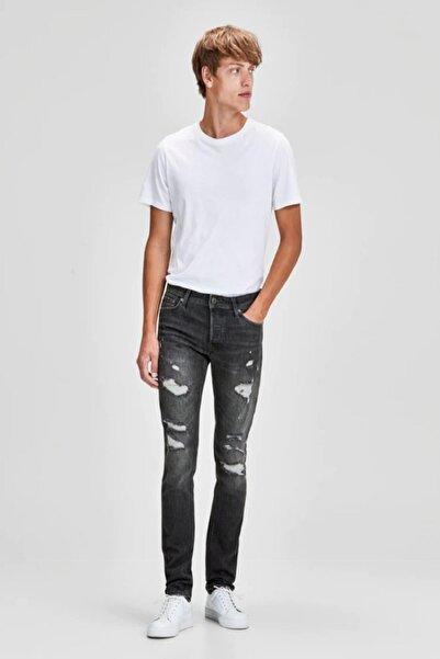 Jack & Jones Erkek Siyah Skinny Fit Kot Pantolon 12141446