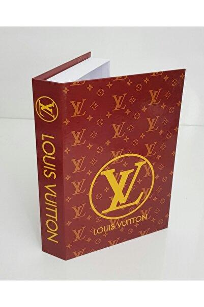 SHADDY GOODS Bordo Louis Vuitton Baskılı Kitap Kutu