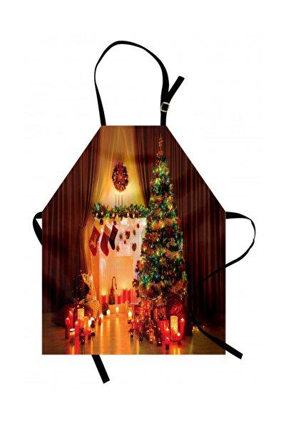 Orange Venue Ağaçlar Mutfak Önlüğü Yılbaşı Ağacı Temalı Parti Deseni