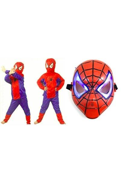 Parti Bulutu Örümcek Adam Spiderman Kostümü 5 Yaş Ve Örümcek Adam Işıklı