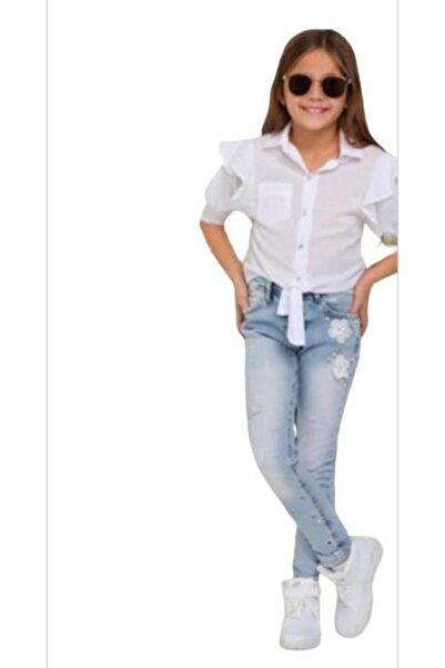 Breeze Kız Çocuk Beyaz Gömlek 1471