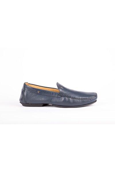 Cesare Paciotti Erkek Mavi Loafer Ayakkabı