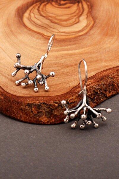 Sümer Telkari Tuba Ağacı El Yapımı Gümüş Küpe 4901