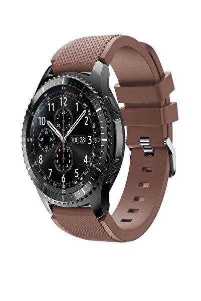 TahTicMer Huawei Watch Gt2 46mm Sport Kordon Silikon Kahve