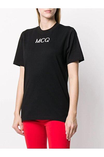 Mcq Siyah Kadın Logo Baskılı T-shirt