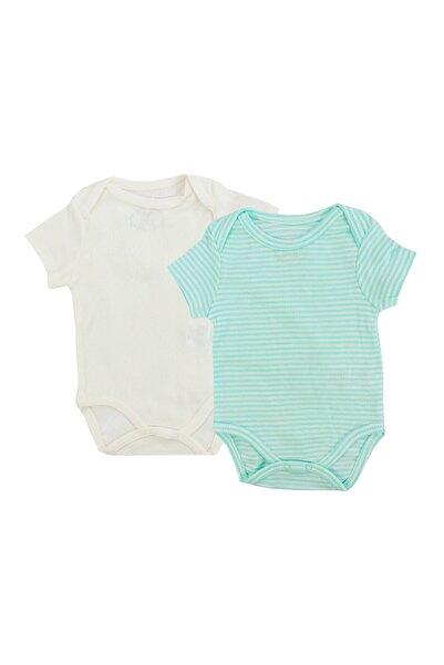 Trixie Unisex Bebek Yeşil 2'li Çıtçıtlı Body