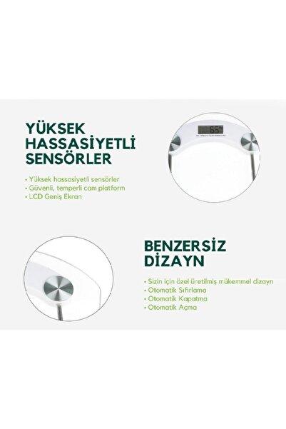 Digital Lcd Ekranlı Banyo Tartısı, 180 Kiloya Kadar Yüksek Hassasiyetli Sensör Temperli Camlı
