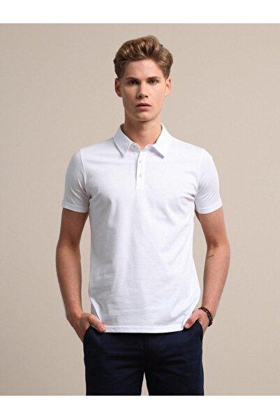 Kip Erkek Beyaz Düz Örme T - Shirt KP10120533
