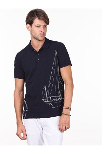 Kip Erkek Lacivert Baskılı Örme T - Shirt KP10120186