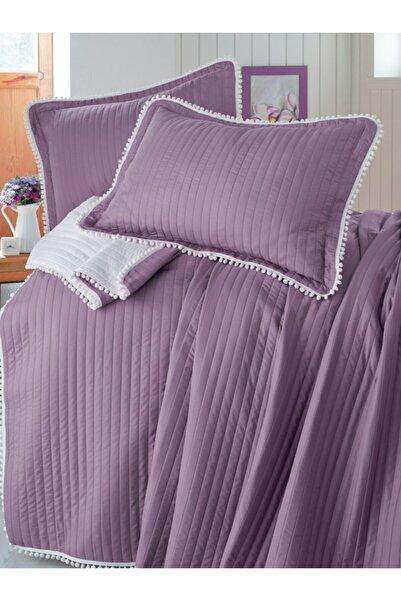Evim Home Ponponlu Yatak Örtüsü Set Tek Kişilik