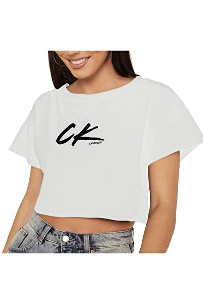 Calvin Klein Calvın Kleın Kadın T-shırt Kw0kw01006-ycd