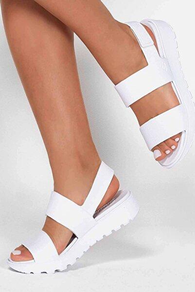 SKECHERS Footsteps-breezy Feels Kadın Sandalet Ayakkabı 111054 Wht