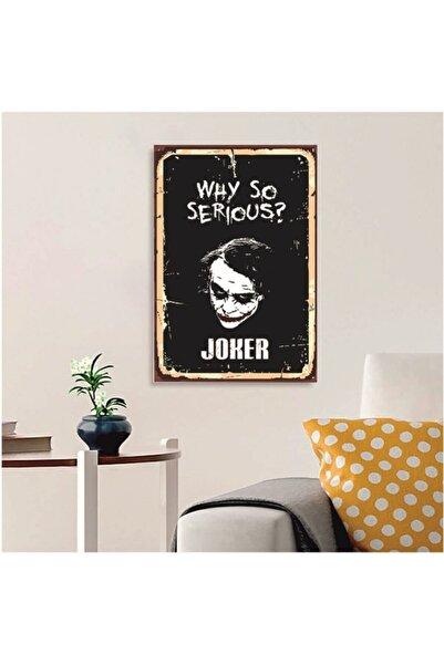 FERMAN HEDİYELİK Joker Ahşap Retro Poster 17,5x27,5 Cm