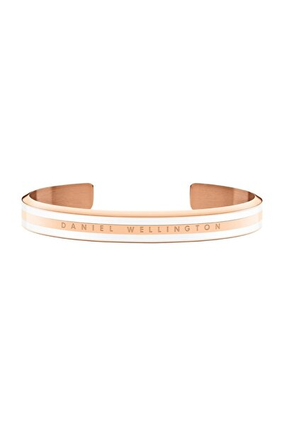 Daniel Wellington Classic Slim Bracelet Rose Gold Satin White Medium - Unisex