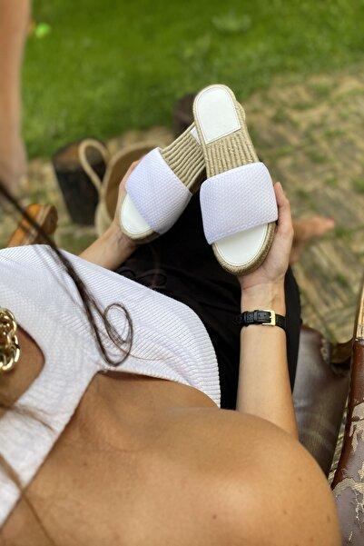 İnan Ayakkabı Beyaz Kadın Sandalet INA111RSL