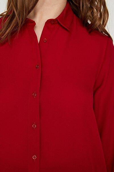 Kadın Bordo Gömlek 9YAK68805PW