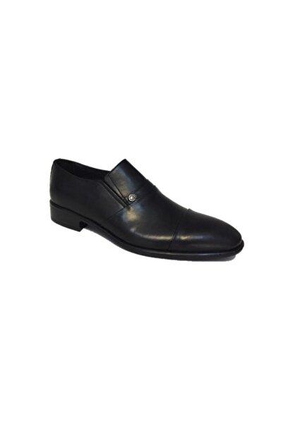 Sahra Ömer Siyah Pvc Taban Hakiki Deri Klasik Erkek Ayakkabı 1336