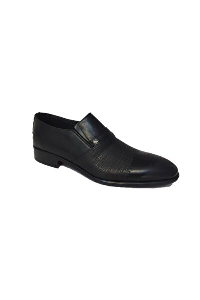 Sahra Ömer 1340 Siyah Pvc Taban Hakiki Deri Klasik Erkek Ayakkabı