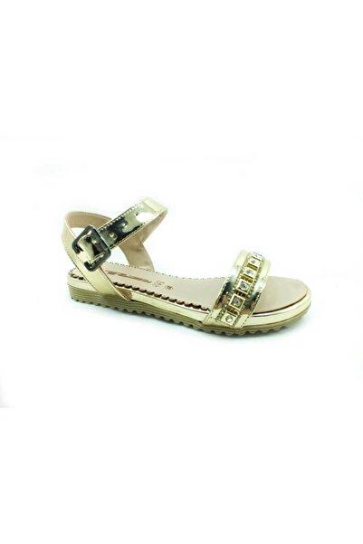 PUNTO Taşlı Kadın Sandalet Altın 17 642401_16710